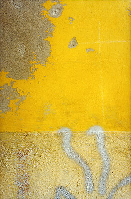 Denis Hopper, Florence (Yellow with silver spray paint), 1997