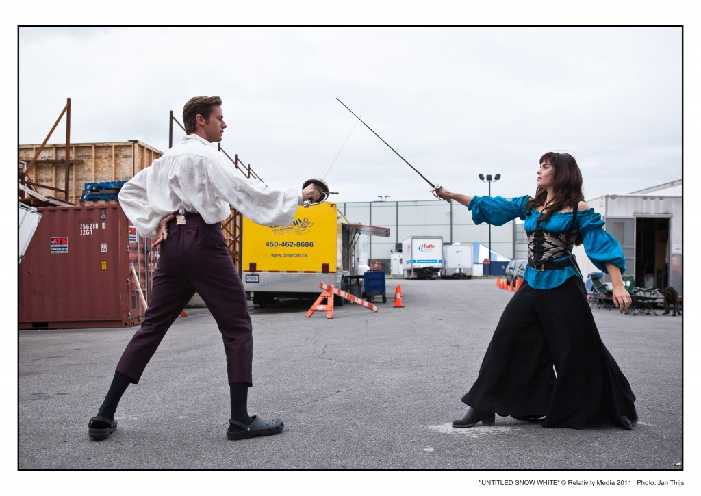 Naomi and Armie rehearsing