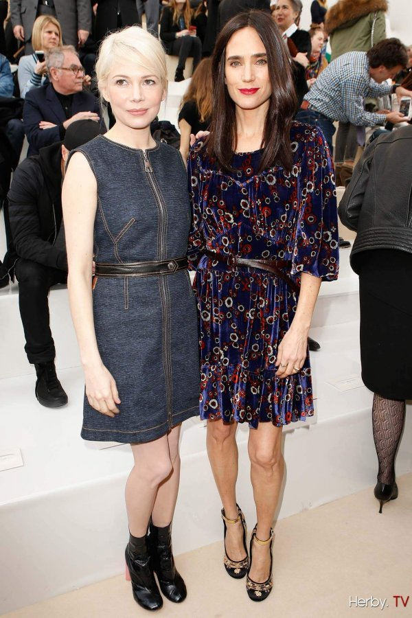 michelle-williams-jennifer-connelly-louis-vuitton-front-row