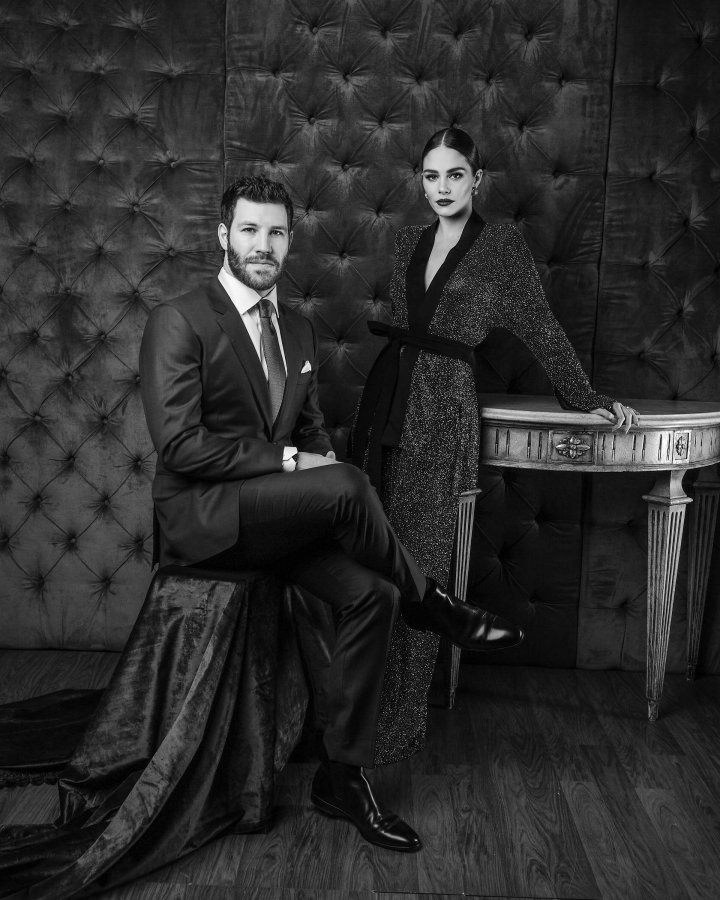 Brandon Prust, NHL hockey player and Maripier Morin, television host pose for the CAFA portrait studio held at Fairmont Royal York Hotel on April 15th, 2016 Photo George Pimentel