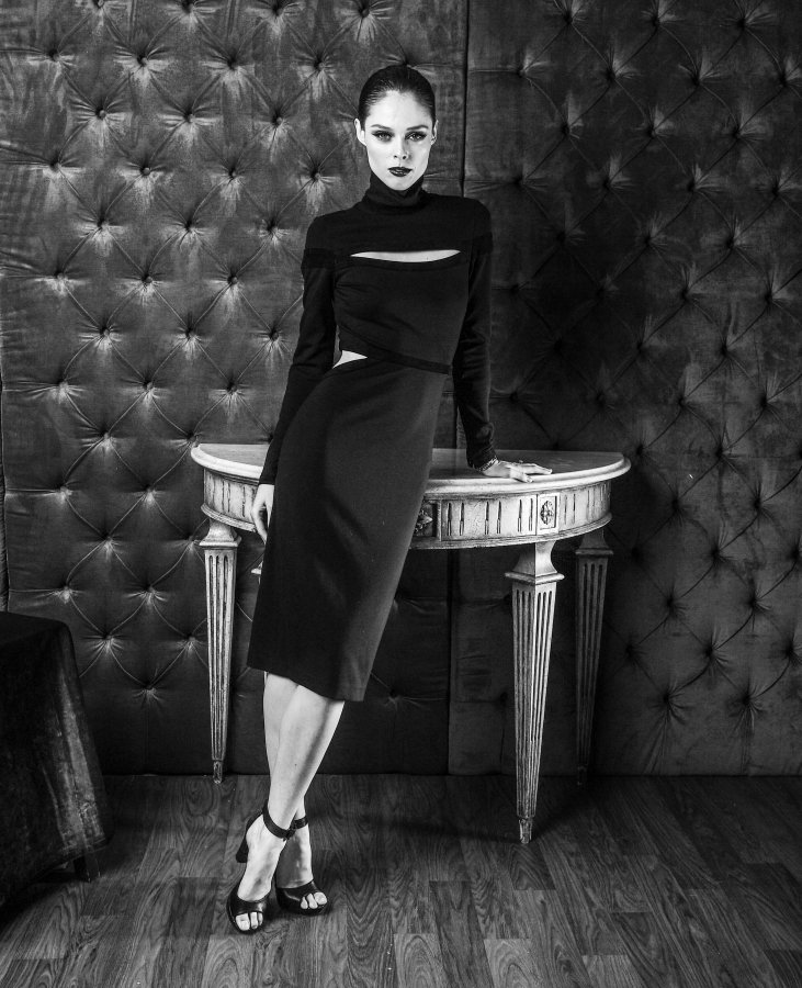 Model Coco Rocha poses for the CAFA portrait studio held at Fairmont Royal York Hotel on April 15th, 2016